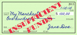 Insufficient funds check article